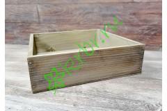 Ящик бокс состаренный Серый, 25х25х7,5 см