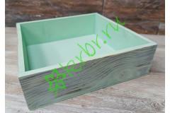 Ящик бокс состаренный Мятный, 25х25х7,5 см