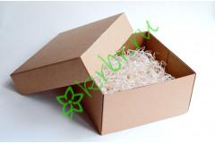 Подарочная коробка крафт крышка/дно 25х25х10 см, шт