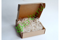 Подарочная коробка крафт  18х18х6 см, шт
