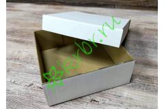 Подарочная коробка кр/дно Белая 15х15х6 см, шт