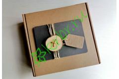 Подарочная коробка 18х18х6 см Пуговка, шт