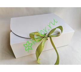 Подарочная коробка фигурная БЕЛАЯ 31х25х10 см, шт