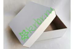 Подарочная коробка кр/дно БЕЛАЯ 25х25х10 см, шт