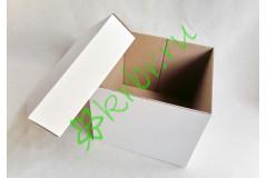 Подарочная коробка кр/дно БЕЛАЯ 18х18х15 см, шт