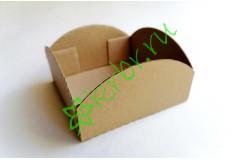 Коробочка-поддон фигурная крафт 10х10х5 см, шт