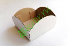 Коробочка-поддон фигурная Белая  10х10х5 см, шт