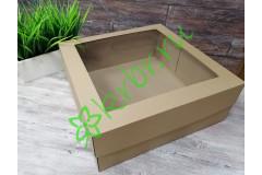 Подарочная коробка кр/дно с окном 30х30х14 см, шт