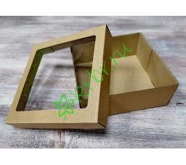 Подарочная коробка кр/дно с окном 15х15х6 см, шт