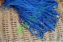 Шнур шелковый синий 3 мм, метр
