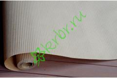Бумага крафт с рисунком белые тонкие полосы, метр