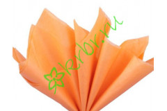 Бумага тишью Оранжевый, лист 50х66 см