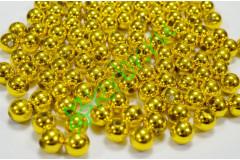 Бусины золотой металлик 10 мм