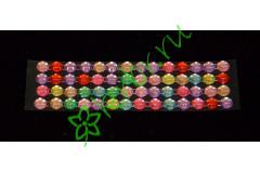 Стразы самоклеющиеся цветной микс 6 мм