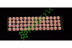 Стразы самоклеющиеся розовые 6 мм