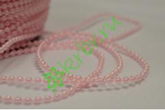 Бусы розовые 2 мм