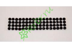 Стразы самоклеющиеся черные 4 мм