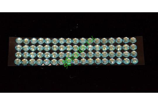 Стразы самоклеющиеся голубые, 4 мм