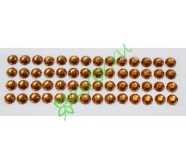 Стразы самоклеющиеся коричневые, 6 мм