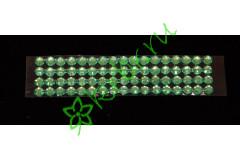 Стразы самоклеющиеся зеленые, 6 мм