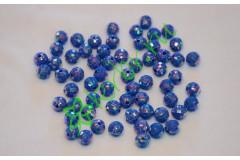Бусины граненые синие 8 мм