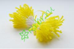 Тычинки двусторонние стекло лимонные, 3 мм