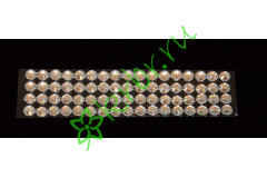 Стразы самоклеющиеся серебро 4 мм