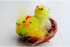 Курочка с цыплятами в гнезде, шт