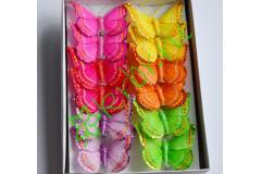 Бабочки декоративные со стразами, шт