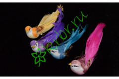 Птичка на клипсе хвост-перо, 1 шт.