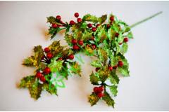 Ветка новогодняя Мерцание с красными ягодами, шт