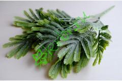 Ветка декоративная Хвост павлина зеленая с напылением, шт