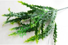 Ветка папоротника Криспи зеленая с напылением, шт
