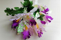 Букет орхидеи Бали бело-сиреневый, шт