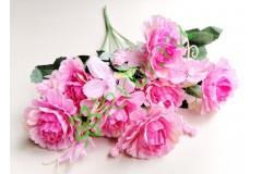 Роза-пион Валерия в букете розовая, шт