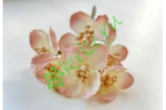 Букетик декоративный бело-розовый