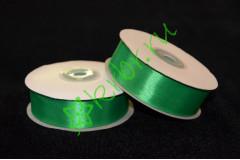 Лента атласная зеленая 25 мм, метр