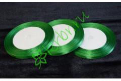 Лента атласная (8086) зеленая 6 мм, метр
