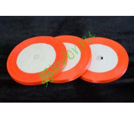 Лента атласная ярко-оранжевая 6 мм, метр