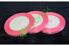 Лента атласная розовая 6 мм, метр