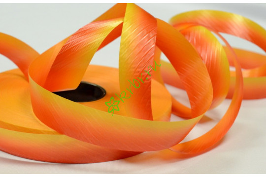 Лента полипропилен с тиснением переход желто-оранжевая, 3 м