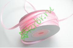 Лента атласная (8037) Розовая 3 мм, 3 м