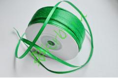 Лента атласная (8087) Зеленая 3 мм, 3 м