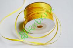 Лента атласная (8013) Желтая 3 мм, 3 м
