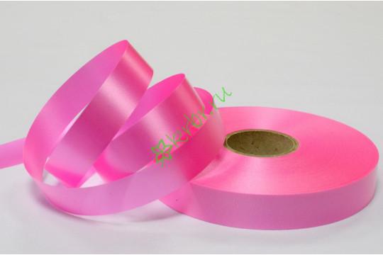 Лента полипропилен простая розовая, 5 м