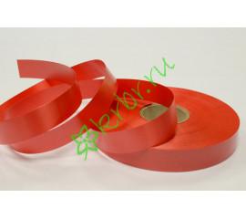 Лента полипропилен простая красная, 5 м