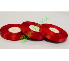 Лента атласная  (8055) Красная 12 мм, метр