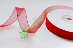 Лента органза красная 12 мм, 1 м