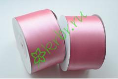 Лента атласная розовый атлас 50 мм, метр