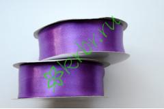 Лента атласная фиолетовая 25 мм, метр